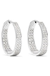 Anita Ko Meryl 18 Karat White Gold Diamond Hoop Earrings One Size