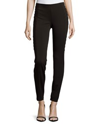 Catherine Catherine Malandrino Ponte Leggings With Darts Noir