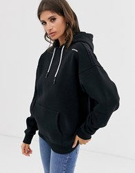 Religion Oversized Hoodie With Brand Logo Patch Black