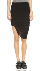 Pam And Gela Draped Skirt Black