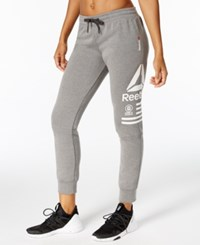 Reebok Quick Cotton Graphic Jogger Pants Dark Grey Marble