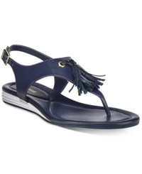 Cole Haan Women's Rona Grand Tasseled Sandals Women's Shoes Blue
