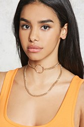 Forever 21 Curb Chain Choker Set Gold