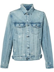Ksubi Stonewashed Denim Jacket Men Cotton L Blue