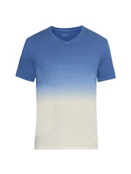 Vince Dip Dye Cotton Jersey T Shirt