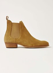 Topman Brown Sand Suede South Chelsea Boots