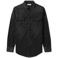 Saint Laurent Classic Denim Western Shirt Black