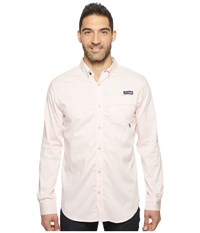 Columbia Super Harborside Slim Fit Woven Long Sleeve Shirt Cupid Micro Gingham Men's Long Sleeve Button Up White