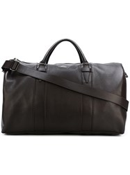 Zanellato Logo Plaque Holdall Brown