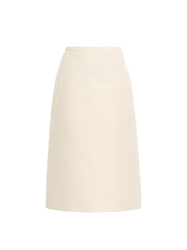 Rochas Cotton And Silk Blend A Line Skirt