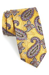 Men's J.Z. Richards Paisley Print Silk Tie Yellow
