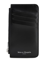 Maison Martin Margiela Leather Wallet W Zip Pocket Black