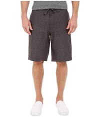 Perry Ellis Linen Washed Drawstring Shorts Slate Men's Shorts Metallic