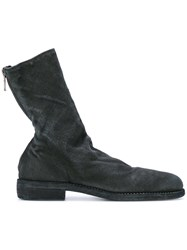 Guidi Fitted Zipped Boots Men Linen Flax Leather 42 Black