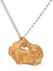 Alighieri Pig Zodiac Charm Chain Necklace Gold
