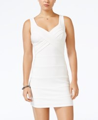 Emerald Sundae Juniors' Banded Bodycon Dress White