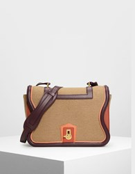 Charles And Keith Classic Satchel Bag Tan