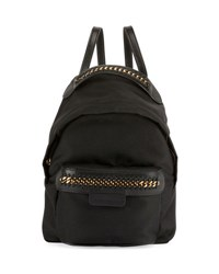 Stella Mccartney Eco Nylon Falabella Go Backpack Black