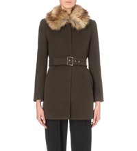 Claudie Pierlot Gilles Wool And Cashmere Blend Coat Kaki