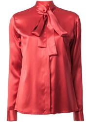 Haider Ackermann Pussy Bow Blouse Red