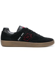 Damir Doma X Lotto Rounded Toe Lace Up Trainers Black