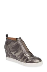Linea Paolo 'Felicia' Wedge Bootie Dark Grey Print Leather