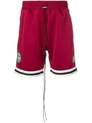 Represent Logo Track Shorts Red
