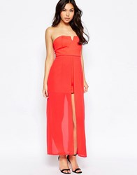 Jovonna Nico Dress With Maxi Overlay Red