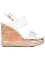 Hogan Wedged Sandals White