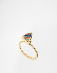 Me And Zena Claw Stone Ring Gold