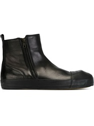 Ann Demeulemeester Side Zip Ankle Boots Black