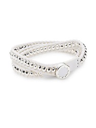 House Of Harlow Beaded Leather Wrap Bracelet