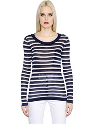 Sonia Rykiel Striped Silk And Cotton Jersey T Shirt