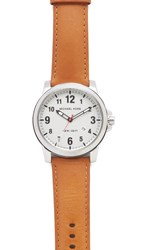 Michael Kors Paxton Leather Watch Silver White