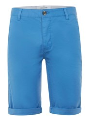 Topman Blue Long Length Stretch Skinny Chino Shorts