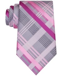 Geoffrey Beene Men's Sunshine Plaid Tie Pink