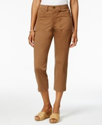 Style And Co Patch Pocket Capri Pants Only At Macy's Tobacco
