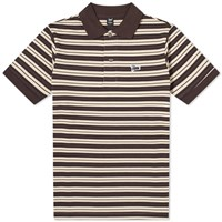 Patta Stripe Polo Brown