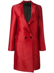 Christian Pellizzari Double Breasted Coat Red