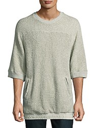 Drifter Fable Textured Cotton Pullover Overcast