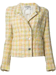 Chanel Vintage Checked Boucle Jacket Multicolour