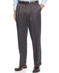 Dockers D4 Relaxed Fit Iron Free Pleated Pants Heather Grey