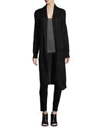 Elizabeth And James Open Front Maxi Cardigan Black