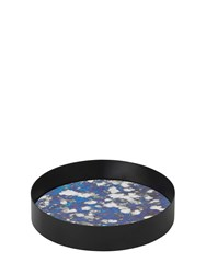 Ferm Living Coupled Small Round Tray Blue Black