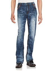 Affliction Straight Leg Faded Denim Jeans Fresno