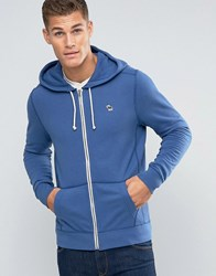Abercrombie And Fitch Zipthru Hoodie Icon Logo In Blue Blue