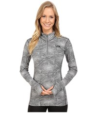 The North Face Motivation 1 4 Zip Pullover Asphalt Grey Jacquard Women's Long Sleeve Pullover Gray