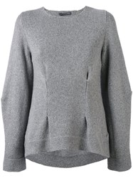 Alexander Mcqueen Cashmere Dart Detailed Jumper Women Cashmere S Grey