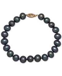 Honora Style Black Dyed Freshwater Pearl Bracelet 8 9Mm In 14K Gold No Color