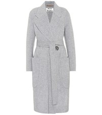 Acne Studios Carice Wool And Cashmere Blend Coat Grey